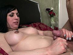 Wacky shemale slut with big fake tits is wearing nylon stockings fucking in provocative XXX porn clip. She gets her butt hole screwed deep mercilessly. X-rated fuck scene with dirty transsexual prostitute.