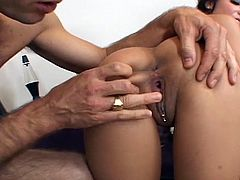 Check out stunning babe Lela Star taking big cock again. She deepthroats it like a real pro and wants him to nail her tight pussy for a huge cumshot in her mouth@