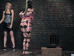 There's all sort of kinky action in this bondage and domination lesbian video with torture and toying fun.
