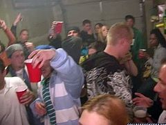 Wild and turretless young folks party hard. They drink bear before they get totally drunk before one couple cloisters in a bedroom where a kinky dude gives a tongue fuck to aroused babe in group sex video by Pornstar.