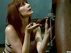 Bobby Bends enjoys weights on his balls in BDSM scene with Maitresse
