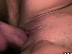 Brunette Doris Ivy gets a mouthful of ram rod in oral action with horny bang buddy