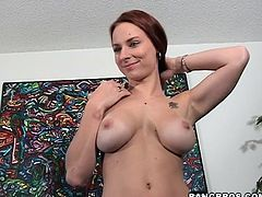 Better have a look at this hardcore video where a sexy redhead entices you with her big tits and perfect ass while being fucked and moaning nonstop.