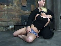 The blonde Crystal Frost is going to be dominated today, tied up, tortured a little bit and toyed in this bondage session.