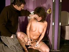 Melanie Memphis is a Hungarian chick with a cute look about her. She is a brunette with brown eyes, Watch her getting hard fuck in bdsm sex, When the guy ties her up, she becomes totally helpless and can only scream as he puts the electrifying vibrator into her ass and pussy.Don't miss it!