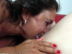 Two old lesbians bring in a young babe to spice up their sex life. Watch as one old lesbo licks the others ass and the other old dyke lick the sweet, young butthole. While they're down there they lick pussy, too.