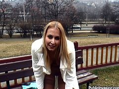 There's sex outdoors with a hot blonde MILF in a POV reality porn video. She gives head in public and gets her snatch fucked in the park.