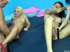 And why not to consider Prono Dan as the luckiest dude ever! He gets to fuck three smoking hot angels at a time! They are Aayliyah Love, Aiden Ashley and Alby Rydez