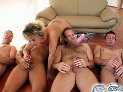 Courtesy of Cum for Cover you can see how a nasty blonde blows six cocks and gets bukkaked in this amazing free porn video. She's definitely in a wild mood today!