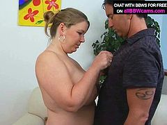Appealing BBW mom meets a handsome guy at the parking lot. She has nothing against having hot quickie with him in front of the camera. So she gets her wet pussy licked actively. Later, she gives him stout blowjob.