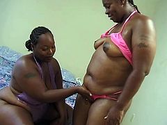 Chubby ebony bitches Nikka and Tamia fingering their pussy and playing with toys until they get to orgasm when they are home alone.