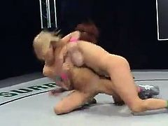 Sexy Shannon Kelly is not good enough to be a fighter, so she loses to Kat. That is why she has to lick the pussy of the winning girl.