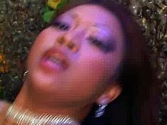 Lewd Asian hottie with nice round tits tops aroused dude for a ride reverse cowgirl style before she turns around to keep hoping on him cowgirl pose. She oral fucks his strain dick in the interim in peppering sex video by Pornstar.