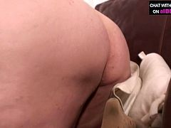 Hussy jade with enormously fat body shape is getting measured by kinky dude. After he is finished taking measures of her body he thrusts his dick in her mouth so she sucks him deepthroat.