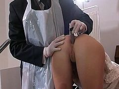 Petite blonde gets ravaged by horny doc who loves hearing her scream