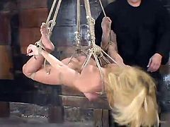 Quite Extreme Bondage for Blonde Jenni Lee Before Toying