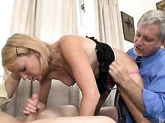 Bodacious bombshell Brittany Angel B gets her mouth destroyed by rock hard schlong