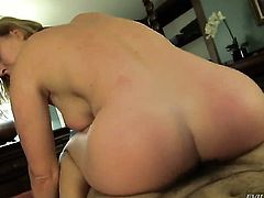 Manuel Ferrara stretches juicy Krissy Lynns anal hole with his stiff dick to the limit
