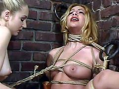 Lesbian Domination Fun with Blonde Dominating Jenni Lee in BDSM Vid