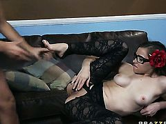 Tiffany Star is ready to suck Keiran Lees rock hard rod day and night