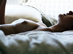Such a babe can make you lose your mind! She's perfect in any ways and her lust is immeasurable! Look at her, showing her beautiful ass and lazing around in the bed. She knows, we are watching her goddesses body and wants to reveal more. The beauty takes off her high heels and panties, rubs her pussy and much more