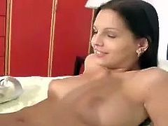Delightful honey Eve Angel is trying herself in solo porn