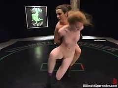 Nicole Scott gets fucked by Princess Donna on tatami
