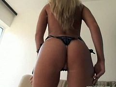 Jake Malones is one lucky fella. He found  Diana Doll, a Czech blonde with a smoking hot body. She strips for him and lets him touch her big boobs as well.