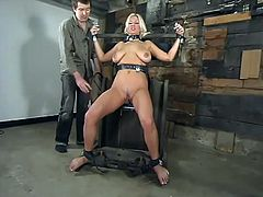 The hot blonde Xana Star is going to be tied up and severely toyed so she can be exhausted with forced orgasms.