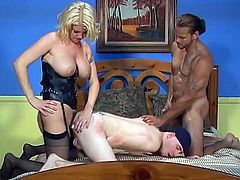 In each part of this video you will see two bisexual guys and a girl. They suck dicks and fuck each other in a rough manner.