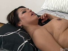 You are right here to enjoy watching spicy sex tube video produced by Fame Digital porn site. Sexy shemale chick gets her tight as hole slammed and jerks off her own dick.