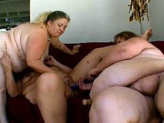BBW sex party with this horny lesbian bitches, playing with big toys in each others pussy until they get orgasm, its all filmed on camera.