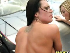 Voodoo loves incredibly hot Bobbi Starrs amazing body and fucks her mouth as hard as possible