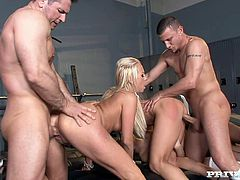 Outrageous group fuck scene with horny porn stars Amy Brooke, Bobbi Starr and Carla Cox