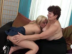 Lustful lesbians Gina B and Hanka are playing dirty games indoors. They undress and pet each other and then please each other with fingering and toying.