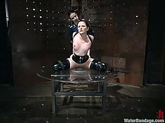 Caroline Pierce and Claire Adams are having a good time together. Claire makes Carol suck her big strapon and then attaches clothes pegs to her body and humiliates her in many ways.