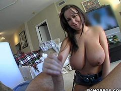 This juicy and delightful honey Brandy Talore is going to enjoy a huge cock in her tight pussy. But what amazes most is that pair of XXXL size tits!