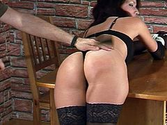 Simona In Sexy Lingerie Tied Up Gagged & Spanked