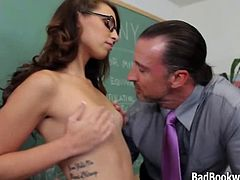 Ashley Storm wants Teacher to Polinate her Flower