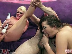 Stunning Tristyn Kennedy and Ashlynn Leigh smoke cigarettes. Then they demonstrate their amazing blowjob skills. Then they toy their pussies with different sex toys.