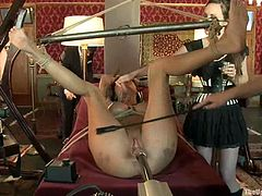 Here is what a real BDSM session must look like. Bunch of smoking hot and sizzling babes get tortured so fucking hard that they love it ask for more!