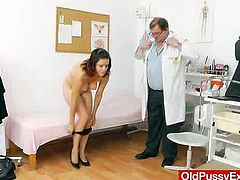 The bbw mamma girl Olena gets a wife gyno by our horny Doc, who examines this brunettes piss hole plus a medical-instrument and by his hands