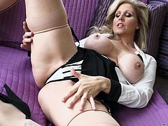 Kiki Daire, Carrie Ann, Julia Ann and Allison Kilgore are hot milfs who like to play with their big natural tits and juicy cunts. Watch this compilation and enjoy every moment of this hot video.