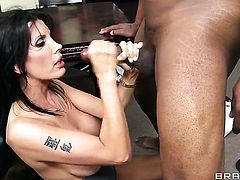 Lucas Stone touches the hottest parts of sexy bodied Shay Sightss body before he nails her cunt