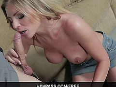 Sexy MILF blonde Brianna Brooks Sucks and Fucks Sheriff