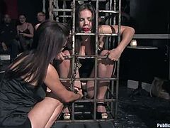 Bondage and anal penetration for sexy sex slave Bobbi Star