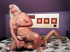 Blonde Lyen Parker with gigantic melons and Judi show their love for lesbian sex