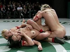 Naked sluts Isis Love, Rain DeGrey, Tara Lynn Foxx, Tia Ling and Vendetta are having a scuffle on tatami. They wrestle with each other and don't lose a chance to touch each other's privates.