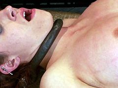 This gorgeous and desirable siren Iona Grace gets naked and tortured so fucking hard. She loves, being trapped and getting her juicy tits tied up!