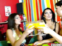This week I brought three of the hottest girls Ive seen in a long time at a fuck party in a neighborhood bar. We fished tremendous big women walking down the block and invite you to take a drink. Still not know it was fucking party. We pay the drinks throughout the night and put it in candle with two boys jamando three big women are beautiful!